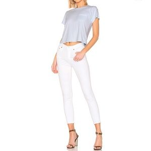C of H Rocket Crop High Rise White Skinny Jeans